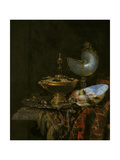 Pronk Still Life with Holbein Bowl, Nautilus Cup, Glass Goblet and Fruit Dish, 1678 Giclee Print by Willem Kalf