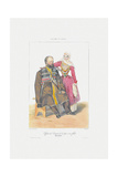 Terek Cossack with Daughter (From: Scenes, Paysages, Meurs Et Costumes Du Caucas), 1840 Giclee Print by Grigori Grigorievich Gagarin