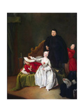 Theatrical Scene, 1752 Giclee Print by Pietro Longhi