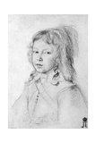 Portrait of the King Louis XIV as a Child, 1644 Giclee Print by Claude Mellan