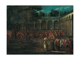 The Ambassadorial Delegation Passing Through the Second Courtyard of the Topkapi Palace, 1720s Giclee Print by Jean-Baptiste Vanmour