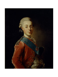 Portrait of Grand Duke Pavel Petrovich (1754-180), 1776 Giclee Print by Alexander Roslin