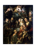 Self-Portrait with Parents, Brothers and Sisters, C1615 Giclee Print by Jacob Jordaens