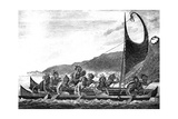 A Canoe of the Sandwich Islands, Late 18th Century Giclee Print by  Page