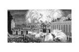 Fireworks, Strasbourg, 1744 Giclee Print