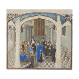 The Coronation of Baldwin II on 1118, Miniature from the Historia by William of Tyre, 1460s Giclee Print
