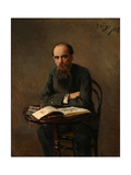 Portrait of the Painter Yefim Yefimovich Volkov (1844-192), 1885 Giclee Print by Nikolai Dmitrievich Kuznetsov