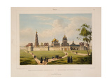 View of the Novodevichy Convent in Moscow, 1840S Giclee Print by Charles-Claude Bachelier