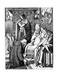 Louis the Pious Making Penance at Attigny in 822, 1840 Giclee Print