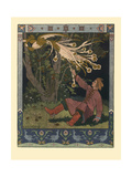 Illustration for the Fairy Tale of Ivan Tsarevich, the Firebird, and the Gray Wolf, 1902 Giclée-Druck von Ivan Yakovlevich Bilibin