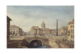 The Kazan Cathedral in Saint Petersburg, 1817 Giclee Print by Maxim Nikiphorovich Vorobyev