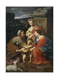 Virgin and Child with John the Baptist as a Boy, Saint Elizabeth and Saint Catherine, 1625-1626 Giclée-Druck von Simon Vouet