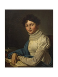 Portrait of the Poetess Anna Bunina (1774-182), 1825 Giclee Print by Mikhail Prokopyevich Vishnevitsky