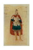 Costume Design for the Opera Prince Igor by A. Borodin, 1900s Giclee Print by Evgeni Petrovich Ponomarev