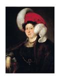 Portrait of Countess Natalia Alexandrovna Zubova (1775-184), Née Suvorova, 1834 Giclee Print by Vasili Andreyevich Tropinin