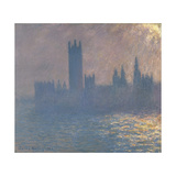Houses of Parliament, Sunlight Effect (Le Parlement, Effet De Solei), 1903 Giclee Print by Claude Monet
