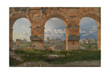 View Through Three Arches of the Third Storey of the Colosseum, 1815 Giclee Print by Christoffer-wilhelm Eckersberg