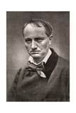 Charles Baudelaire, Influential French Poet, Critic and Translator, Mid-19th Century Giclee Print