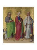 Saints Matthew, Catherine of Alexandria and John the Evangelist, C. 1450 Giclee Print by Stephan Lochner