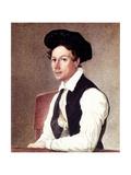 Portrait of Decembrist Mikhail Alexandrovich Bestuzhev (1800-187), 1837-1839 Giclee Print by Nikolai Alexandrovich Bestuzhev