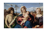 Madonna and Child with Saint John the Baptist and Mary Magdalene, 1520-1523 Giclee Print by Jacopo Palma Il Vecchio the Elder