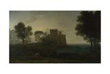 Landscape with Psyche Outside the Palace of Cupid (The Enchanted Castle), 1664 Reproduction procédé giclée par Claude Lorraine
