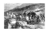 The Stage-Coach of the Last Century, 1855 Giclee Print by John Gilbert