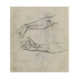 Studies of an Outstretched Arm for the Fresco the Drunkenness of Noah, C.1508 Giclee Print by  Michelangelo Buonarroti