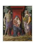 The Virgin and Child with the Magdalen and Saint John the Baptist, C. 1495 Giclee Print by Andrea Mantegna