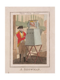 A Showman, Cries of London, 1804 Giclee Print by William Marshall Craig