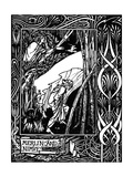 Merlin and Nimue. Illustration to the Book Le Morte D'Arthur by Sir Thomas Malory, 1893-1894 Giclee Print