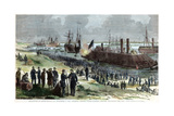 Recapture of Baton Rouge, Louisiana, American Civil War, December 1862 Giclee Print by FH Schell