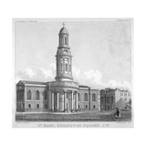 St Mary's Church, Bryanston Square, Marylebone, London, C1825 Giclee Print by Robert Blemmell Schnebbelie