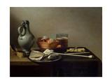 Still Life with Clay Pipes, 1636 Reproduction procédé giclée par Pieter Claesz