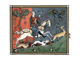 A Plantagenet King of England Out Hunting Impression giclée