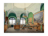 Interiors of the Winter Palace, the Large Study of Emperor Nicholas I, 1860S Giclee Print by Eduard Hau