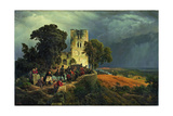 The Siege, 1848 Giclee Print by Carl Friedrich Lessing