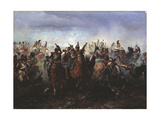 The Battle of Fer-Champenois on March 13, 1814, 1891 Giclee Print by Gottfried Willewalde