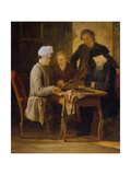 Voltaire at a Chess Table, Between 1750 and 1775 Giclee Print by Jean Huber