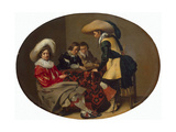Tric-Trac Players, C1630 Giclee Print by Willem Cornelisz Duyster