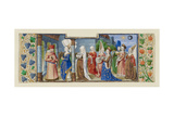 Philosophy Presenting the Seven Liberal Arts to Boethius, Ca 1465 Giclee Print