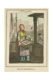 Mackerel , Cries of London, 1804 Giclee Print by William Marshall Craig
