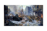 The Russian Army Capturing Vyborg on March 12th, 1940, 1941 Giclee Print by Alexander Alexandrovich Blinkov