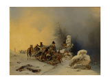 The Withdrawal of the French Troops from Russia, 1846 Giclee Print by Gottfried Willewalde