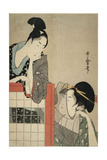 Lady and Gentleman by a Screen, 1797 Giclee Print by Kitagawa Utamaro