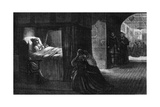 The Deathbed of Oliver Cromwell, 3 September 1658 Giclee Print by David Wilkie Wynfield