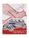 Poster Advertising Renault Cars, 1934 Giclee Print