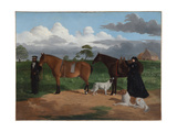 Mrs Adolphus Sceales with Black Jimmie on Merrang Station, 1856 Giclee Print by Robert Hawker Dowling