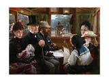 An Omnibus Ride to Piccadilly Circus (Mr Gladstone Travelling with Ordinary Passenger), 1885 Giclee Print by Alfred Morgan