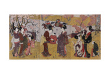 The Third Month, Triptych (From the Series Twelve Months by Two Giclee Print by Utagawa Toyohiro